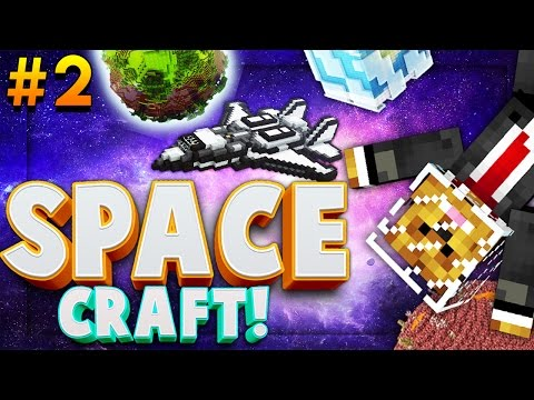 Minecraft SPACE CRAFT - NEW WEAPONS  - Modded Survival #2