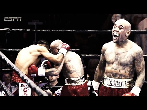 """KEITH THURMAN VS LUIS COLLAZO -ESPN POST FIGHT   THURMAN GETS HIT """"ONE TIME""""  W/ NASTY BODYSHOT"""