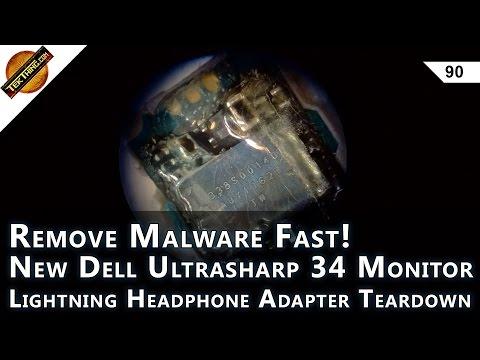 Remove Malware! Lightning Headphone Adapter Teardown, Dell U3417W Review, Learn Linux!