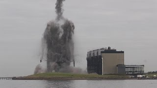 Cockenzie Power Station Demolition 26/9/2015 + Slow Motion