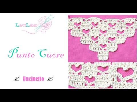 Punto Cuore A Uncinetto Heart Stitch Youtube