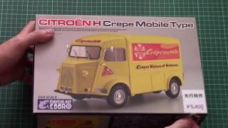 Ebbro 1//24 Citroen H Crepe mobile with figure #25013