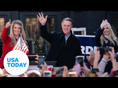 David Perdue and Kelly Loeffler address crowd as votes are counted in Georgia runoff   USA TODAY