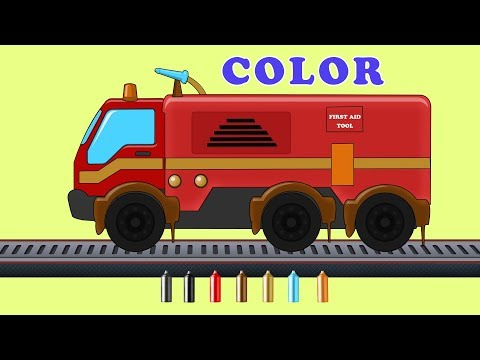 Kids TV Channel | Fire Truck |  Learn Colors with Fire Engine | Coloring Videos For Children
