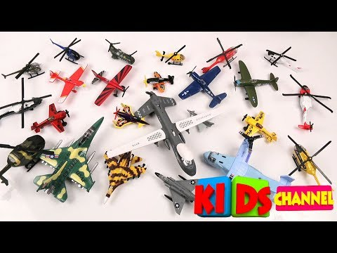 Learn Airplanes | Fighter Planes | Jet And Helicopter For Kids  | Toddlers  Vehicles | Fun Videos