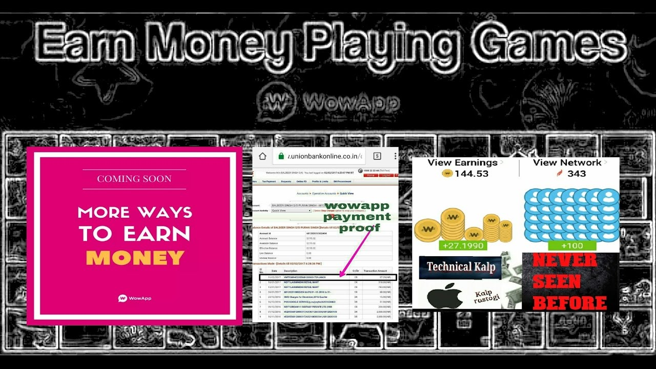 How To Earn Money By Playing Game In Wowapp Full Detail In Description