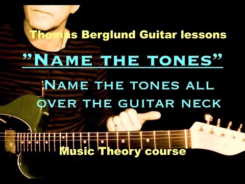 How to name the tones all over the guitar neck - Music Theory Course