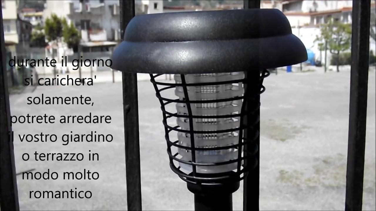 Lampada ad energia solare killer di zanzare lemonbest for Lampada zanzare