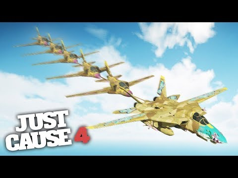 FLYING TRAIN CHALLENGE! - Just Cause 4 Challenges & Stunts