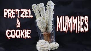 Pretzel and Cookie Mummies