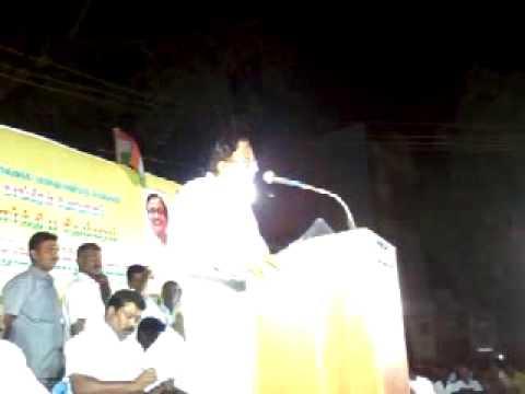 """""""Finance Minister Shri P.Chidambaram'speech in sivaganga"""