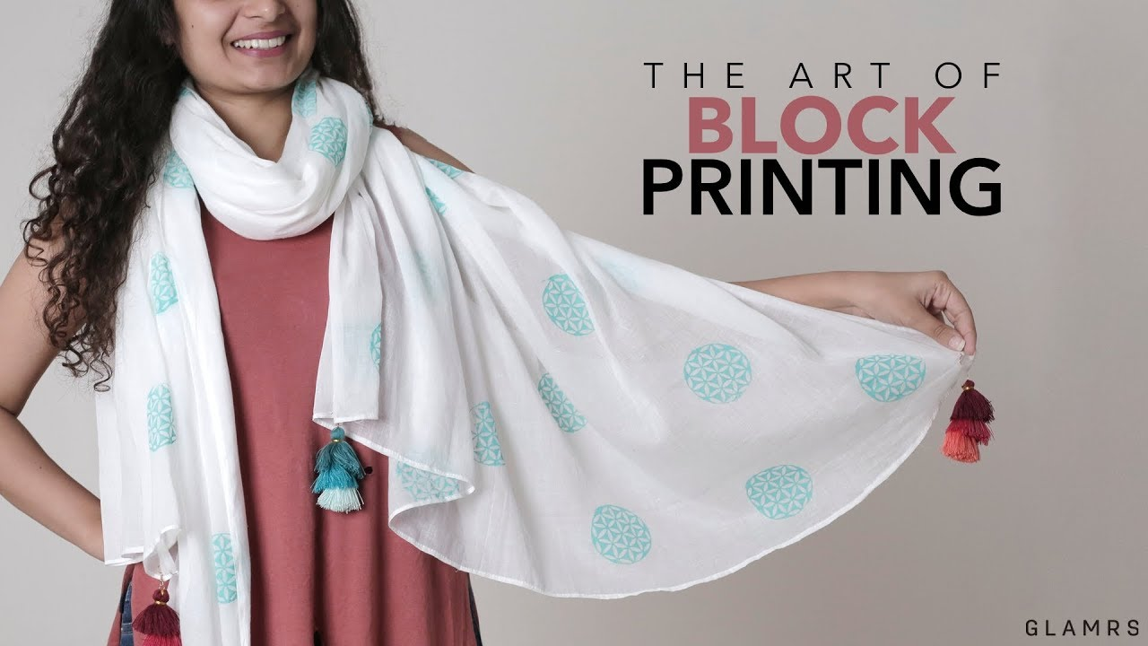 Diy Block Printing At Home Fabric Printing Technique Youtube