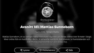 Mattias Sunneborn i Tyngre Radio 2016 (avsnitt 181)