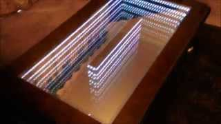 Infinity Mirror Coffee Table project using 3 colour LEDs