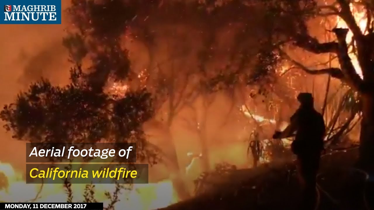 Aerial footage of California wildfire