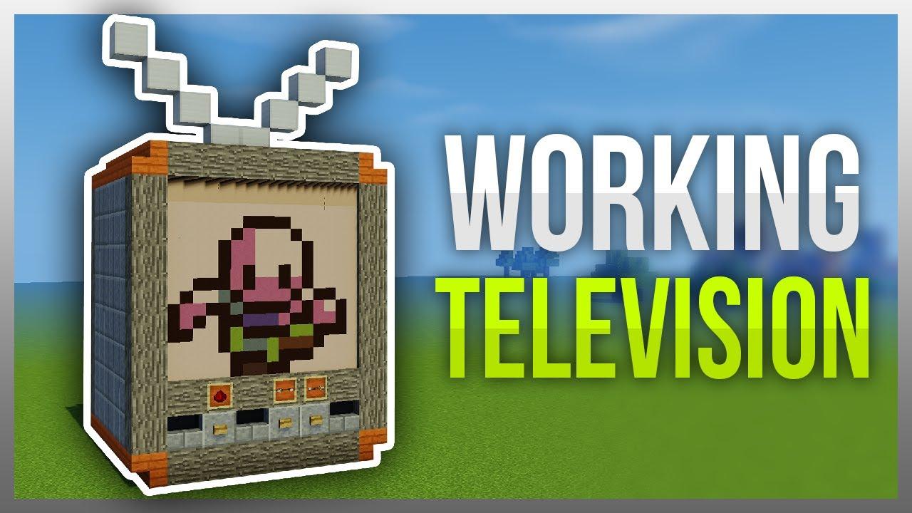 �� working tv in minecraft no mods youtube