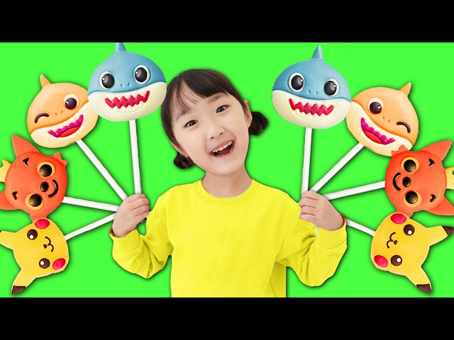 Pororo Baby shark Chocolate Finger Family Song Nursery Rhymes 뽀로로 아기상어 핑크퐁 초코렛 컬러송-Shushu ToysReview