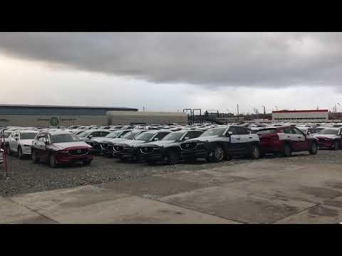 24.Погрузка Mazdami в Екатеринбурге. Дальнобой на автовозе .