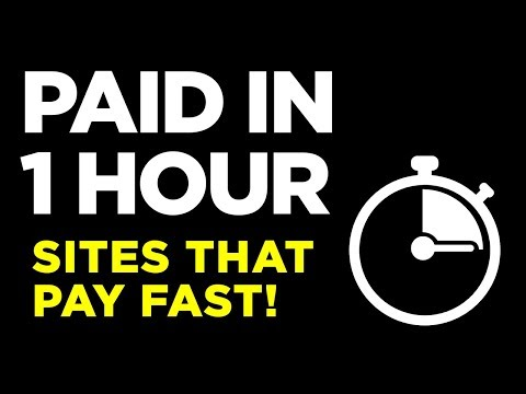 Sites That Pay PayPal Money Fast - THE SAME DAY!