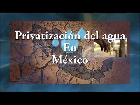 Privatización del agua en México