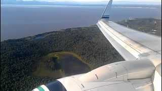Alaska Airlines Boeing 737-900 Landing in Anchorage