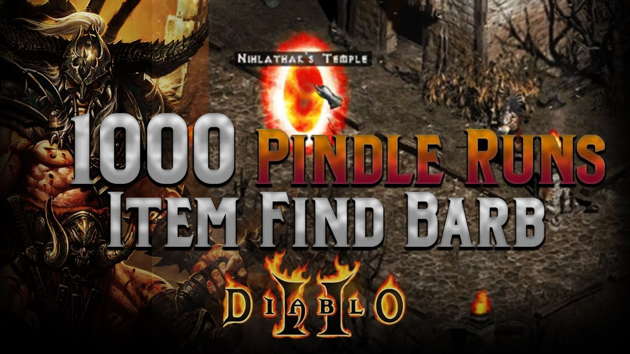 1000 Pindle Runs with the Item Find Barbarian - 697% mf!!! - Diablo 2 -  Human Bot Project