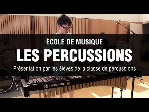 Présentation des percussions par les élèves de l'école de musique de Drusenheim