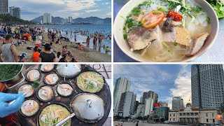 Du lịch Nha Trang #2: ĐÔNG NGHỊT NHƯ KIẾN biển chiều Nha Trang - Bún cá Mịn - Bánh căn