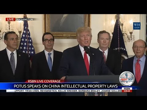 FULL: President Trump Signs a Memorandum Addressing China's Intellectual Property Laws 8/14/17
