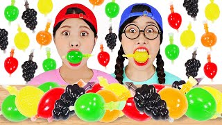 Tiktok Jelly Fruit Candy Challenge with Most Popular Sour Candy DONA MUKBANG