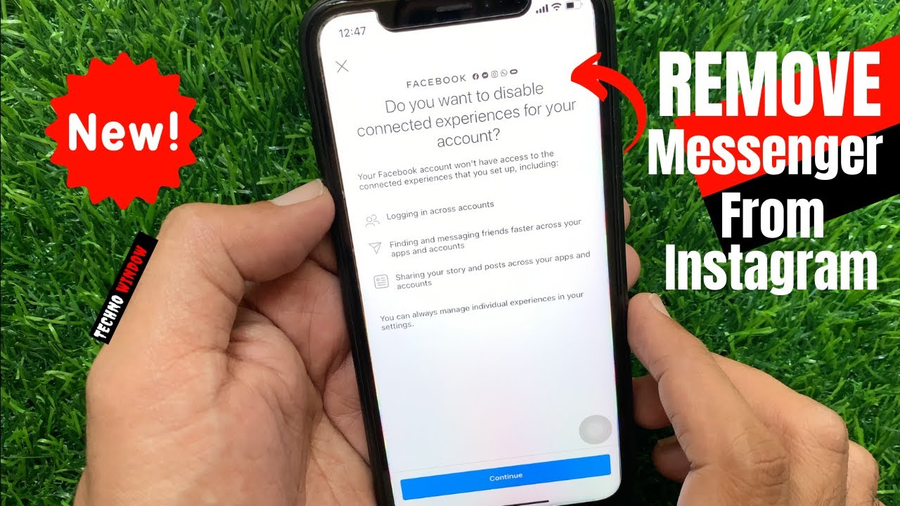How to REMOVE Facebook Messenger From Instagram | Techno Window