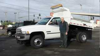 Town and Country Truck #5770: 2001 Dodge Ram 3500 4x4 One Ton 2-3 Yard Dump Truck