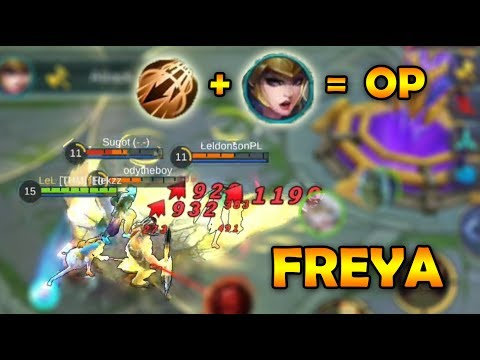 OVERPOWERED FREYA PENTAKILL GAMEPLAY - MOBILE LEGENDS