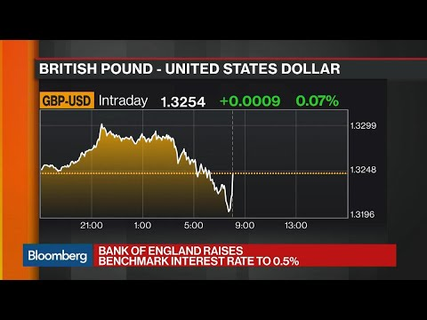 BOE Raises Key Interest Rate to 0.5% in 7-2 Vote