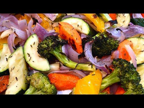 Запечённые овощи в духовке.Почти все делают эти 3 ошибки при приготовлении овощей.Как запекать овощи