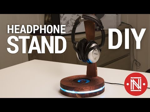 DIY Headphone Stand with USB lights