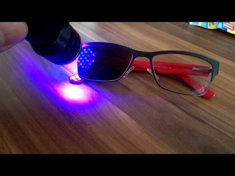 Transition Glasses Under UV Light