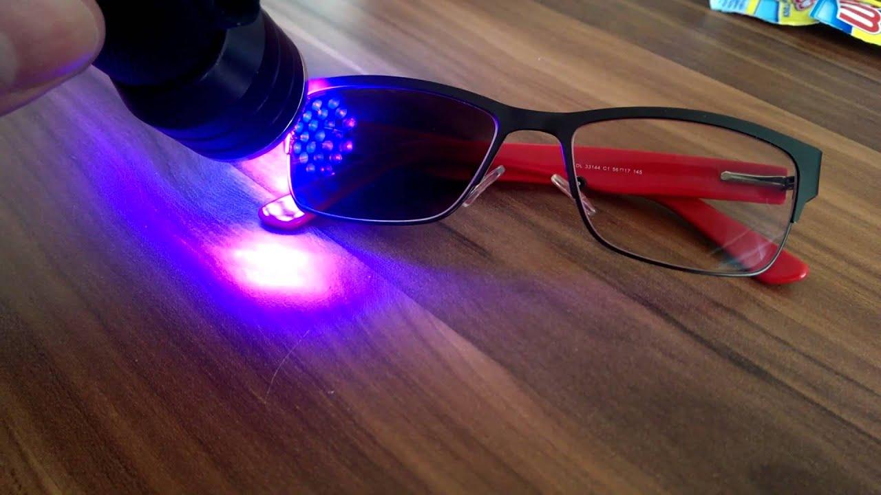 Transition Glasses Under Uv Light Youtube