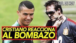 Cristiano sonríe tras el bombazo de la selección española I Portugal vs España Rusia 2018