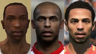 Thierry Henry transformation from FIFA 04 to FIFA 19