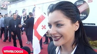 Eurovision 2015 red carpet: Nina Sublatti (Georgia) interview | wiwibloggs