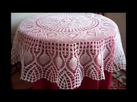 Crochet Tablecloths For Round Tables
