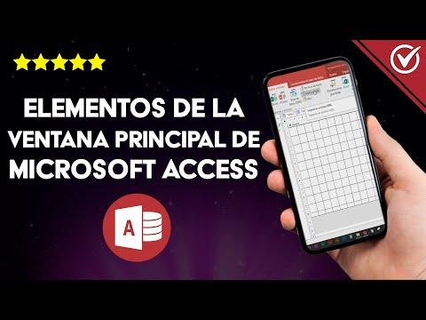 ¿Qué es y Cuáles son las Partes y Elementos de la Ventana Principal de Microsoft Access?
