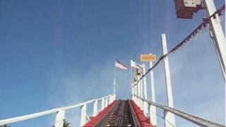 Santa Cruz Beach Boardwalk - Giant Dipper (Front Row) POV