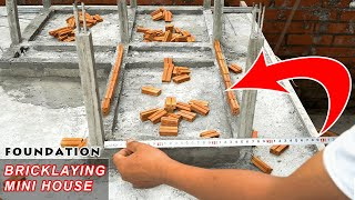 bricklaying model -- Building Dream Mini House | 2nd floor -- part 3