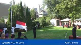KJRI Toronto: Upacara Bendera HUT RI ke-70 (17 Agustus 2015)