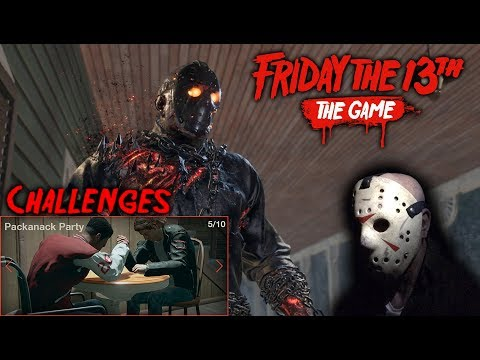 Friday the 13th the game - Gameplay 2.0 - Challenge 5 - Savini Jason
