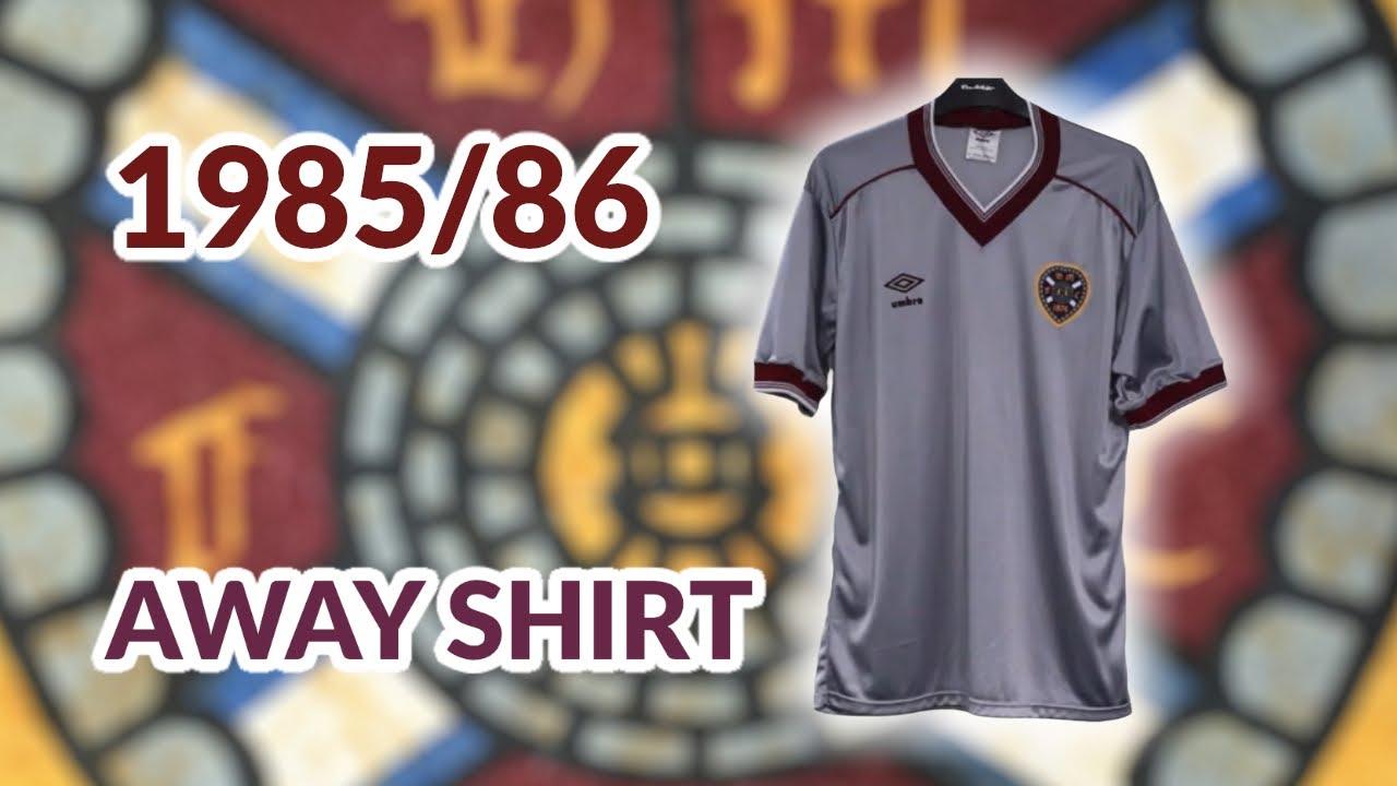 half off 639e8 474af Heart of Midlothian 1985 1986 away Football Shirt
