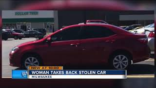 'You gonna learn today': Milwaukee woman steals back her stolen car