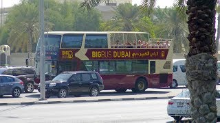 Dubai - big bus beach tour (green route) 4K